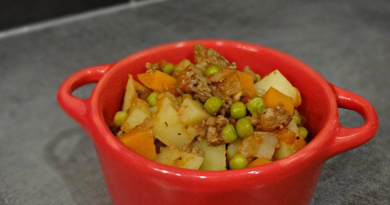 Cocotte de légumes au boeuf haché
