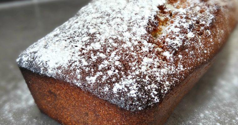 Cake amande, noisette et pépites de chocolat