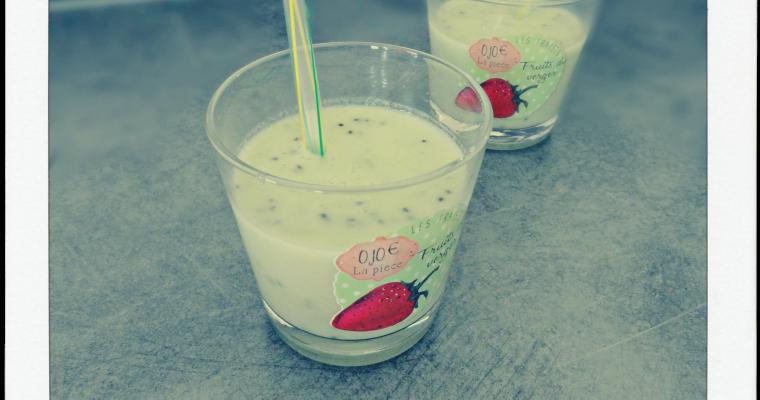 Smoothie kiwi coco-citron vert