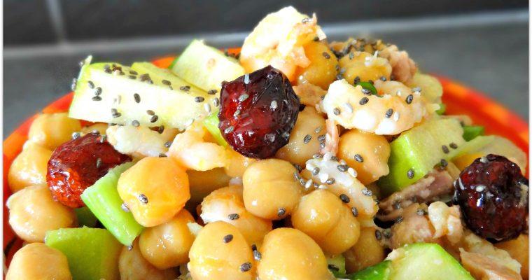 Salade estivale de pois chiche au thon et à la pomme verte