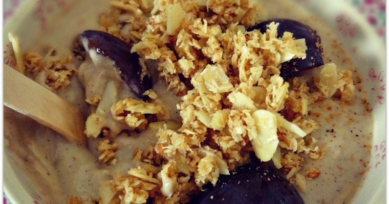 Crème Kokkoh au lait d'amande, quetsches et tonka