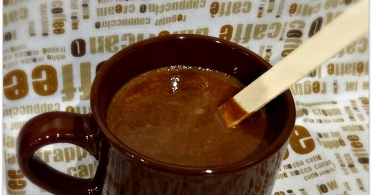 Le chocolat chaud au lait d'amande