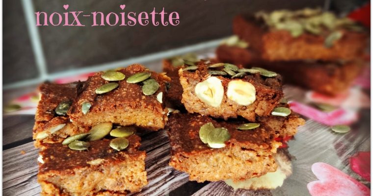 Brownies courge noix-noisettes