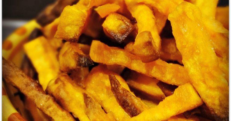 Frites de patate douce au four