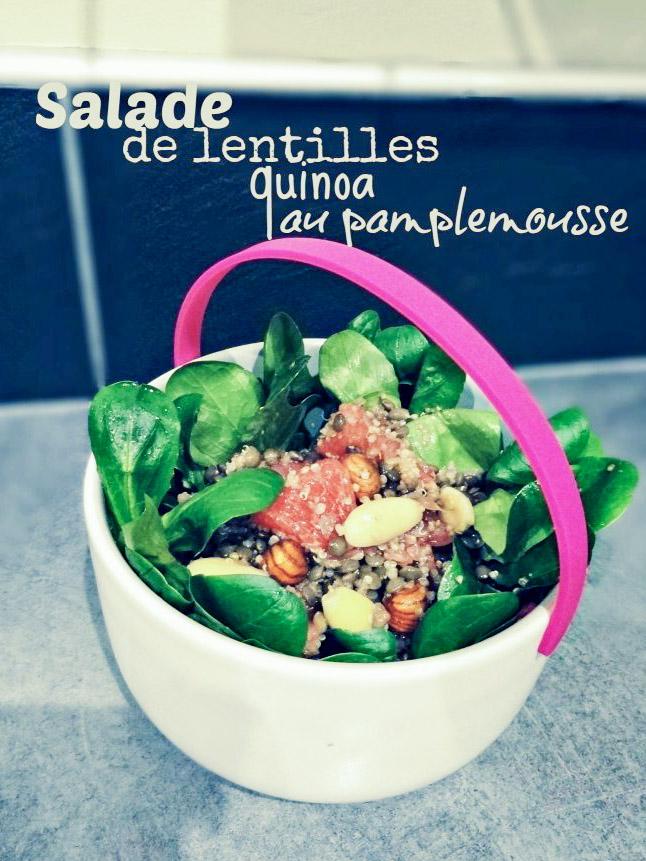 Salade de lentilles vertes, et quinoa au pamplemousse - Bienvenue chez vero (1)