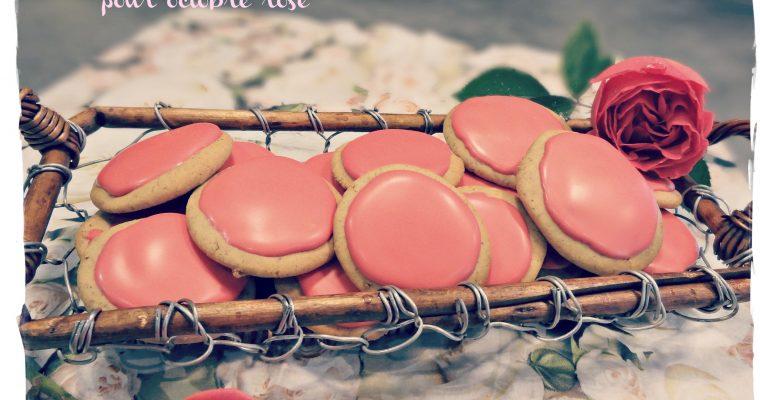 Biscuits roses pour octobre rose {sans gluten et sans lait)