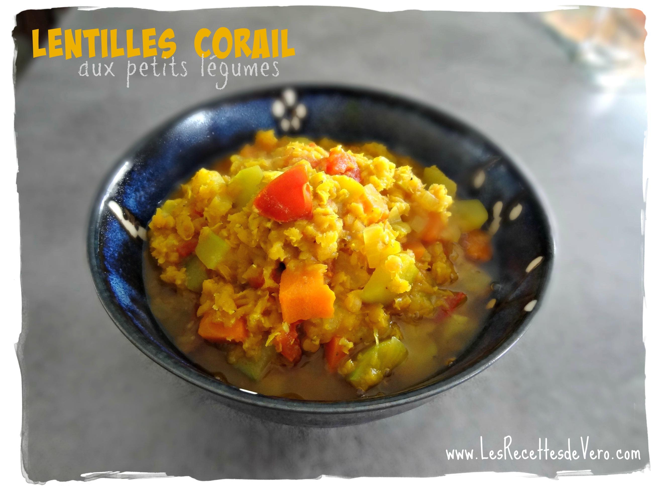Lentilles corail légumes
