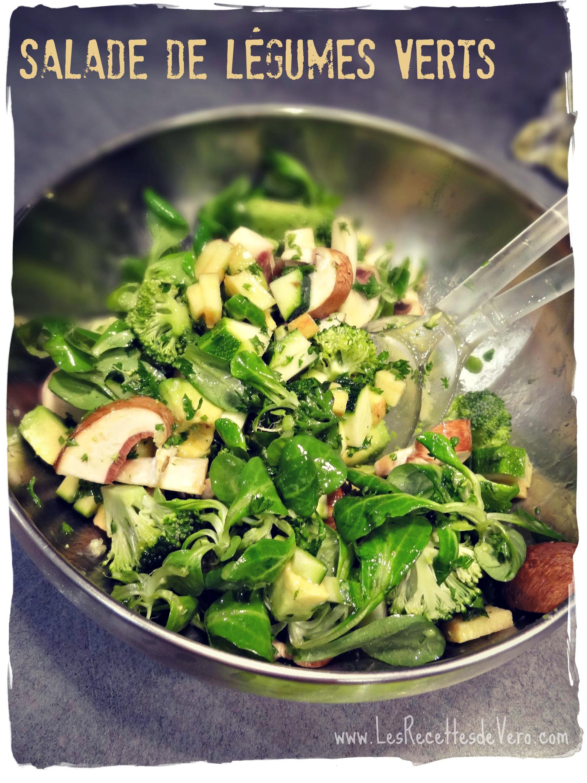 Salade légumes verts