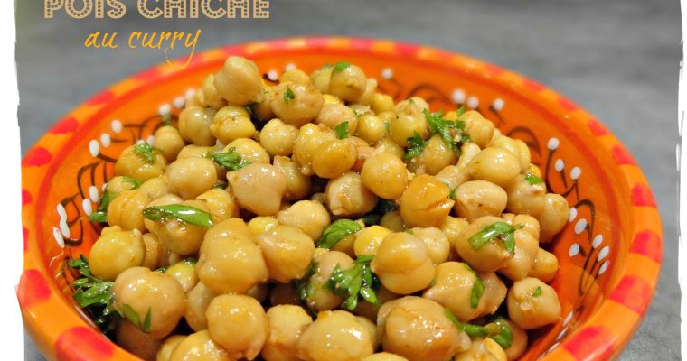 Salade de pois chiche au curry