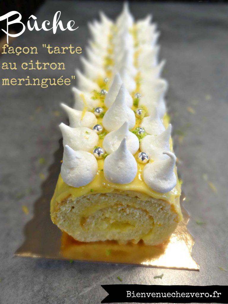 Buche Façon tarte au citron meringuée - Bienvenue chez vero.jpg