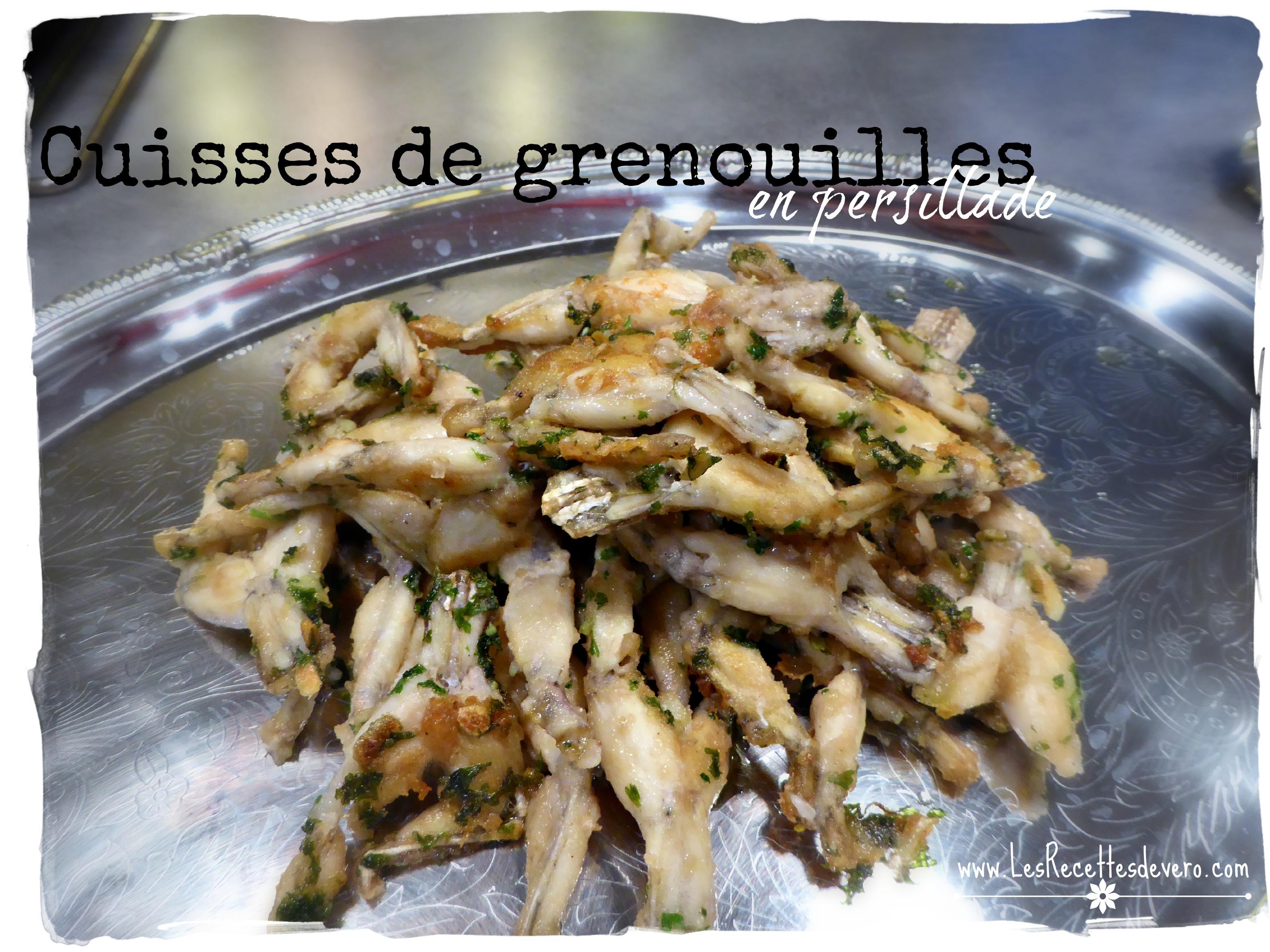 Cuisses de grenouilles en persillade bienvenue chez vero - Cuisiner cuisses de grenouilles surgelees ...