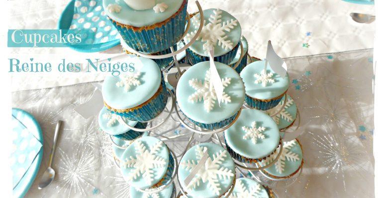 Cupcakes Reine des Neiges – Sans gluten sans lait