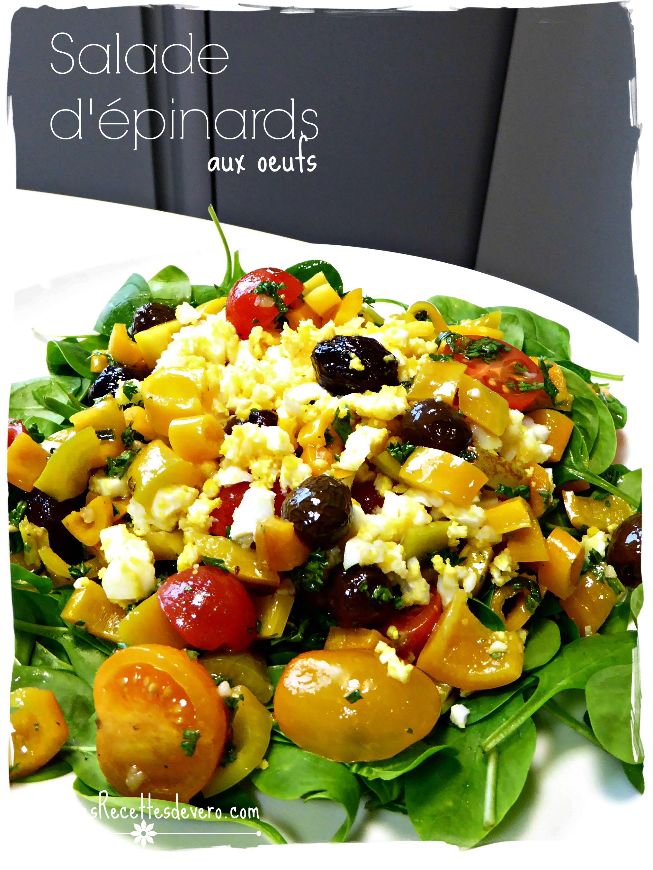 salade d'épinards aux oeufs