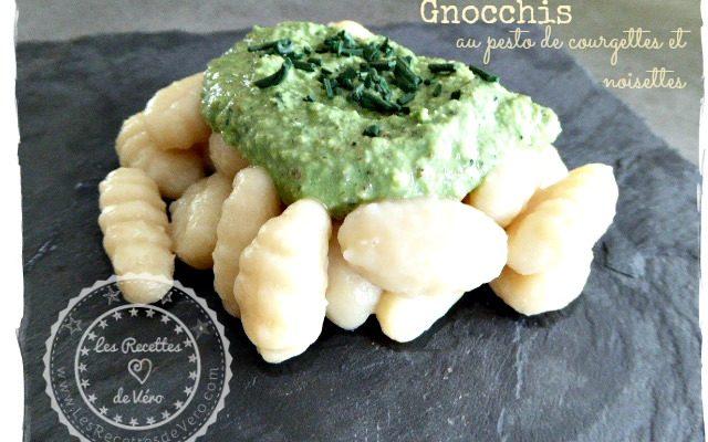 Gnocchis au pesto de courgettes & noisettes (sans gluten sans lait)