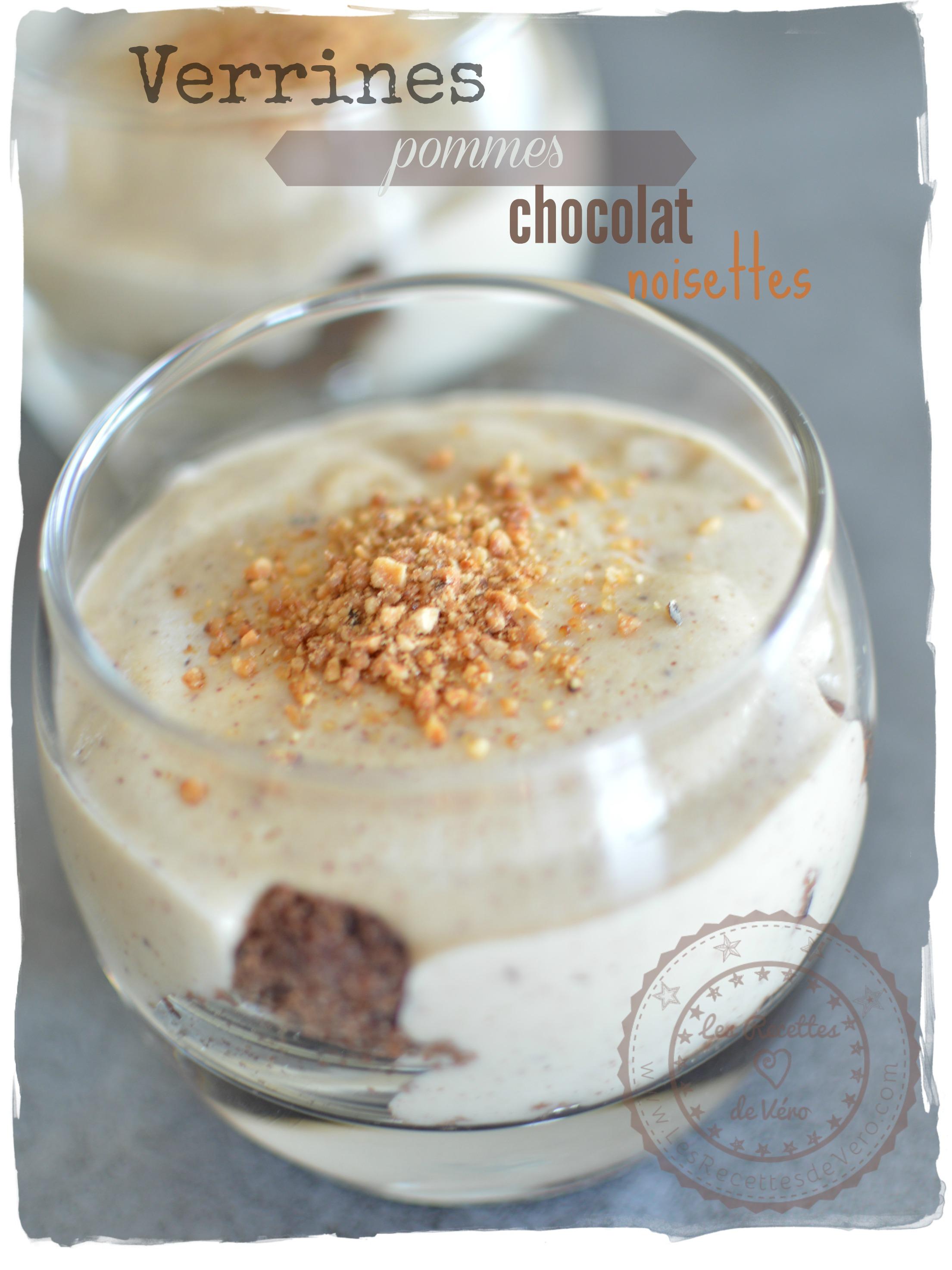 Verrines pommes chocolat noisettes sans gluten sans lait - Cuisinez gourmand sans gluten sans lait sans oeufs ...