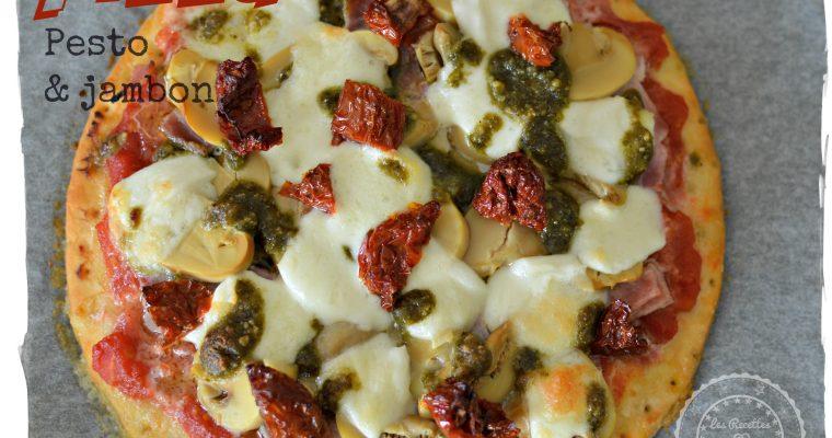 Pizza pesto & jambon sans gluten sans lactose