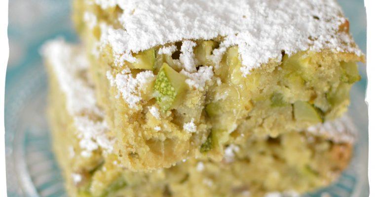 Scarpaccia, gâteau sucré aux courgettes
