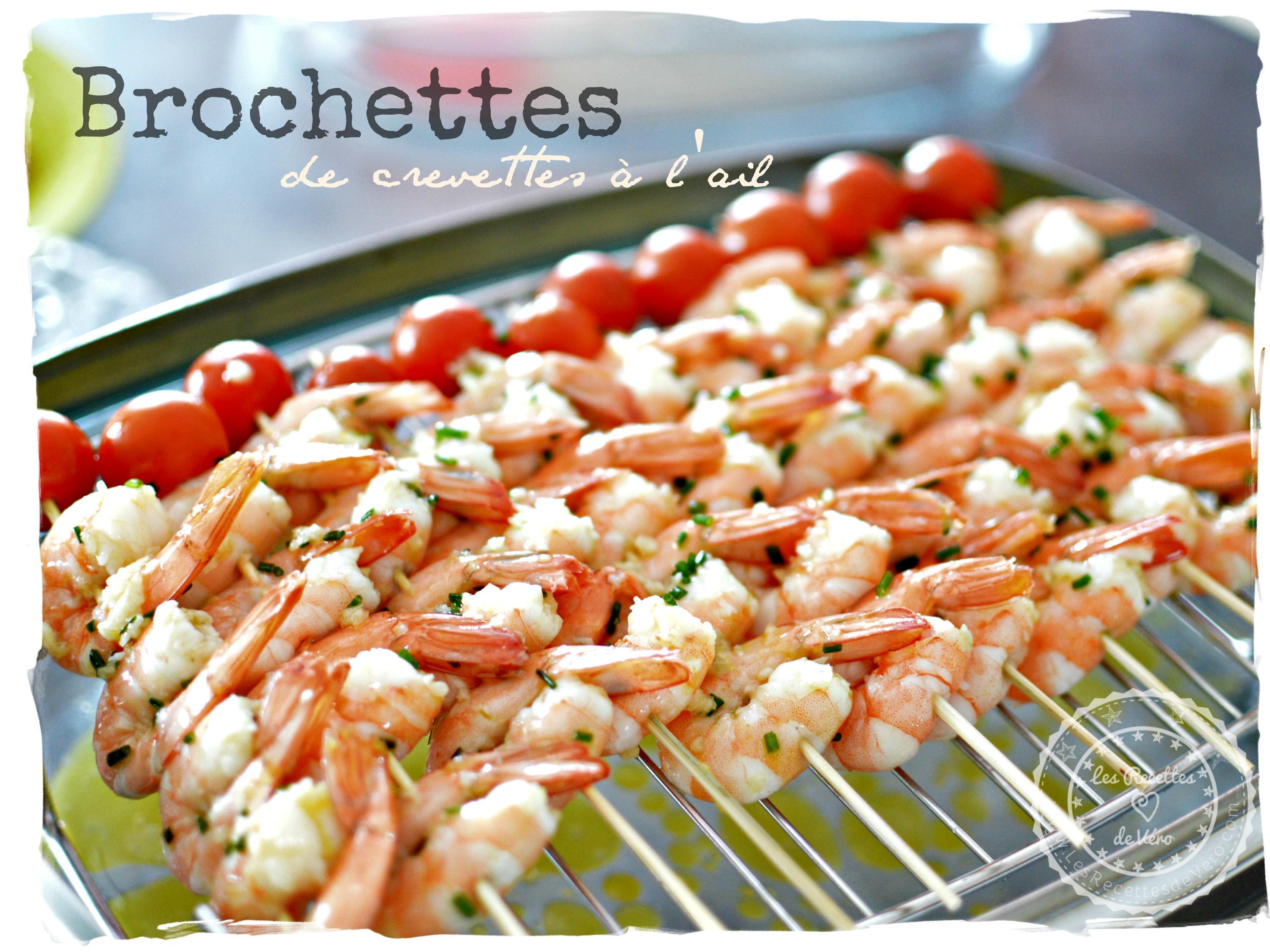 brochettes de crevettes à l'ail 1