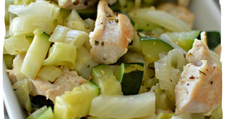 Emincé de dinde et ses légumes