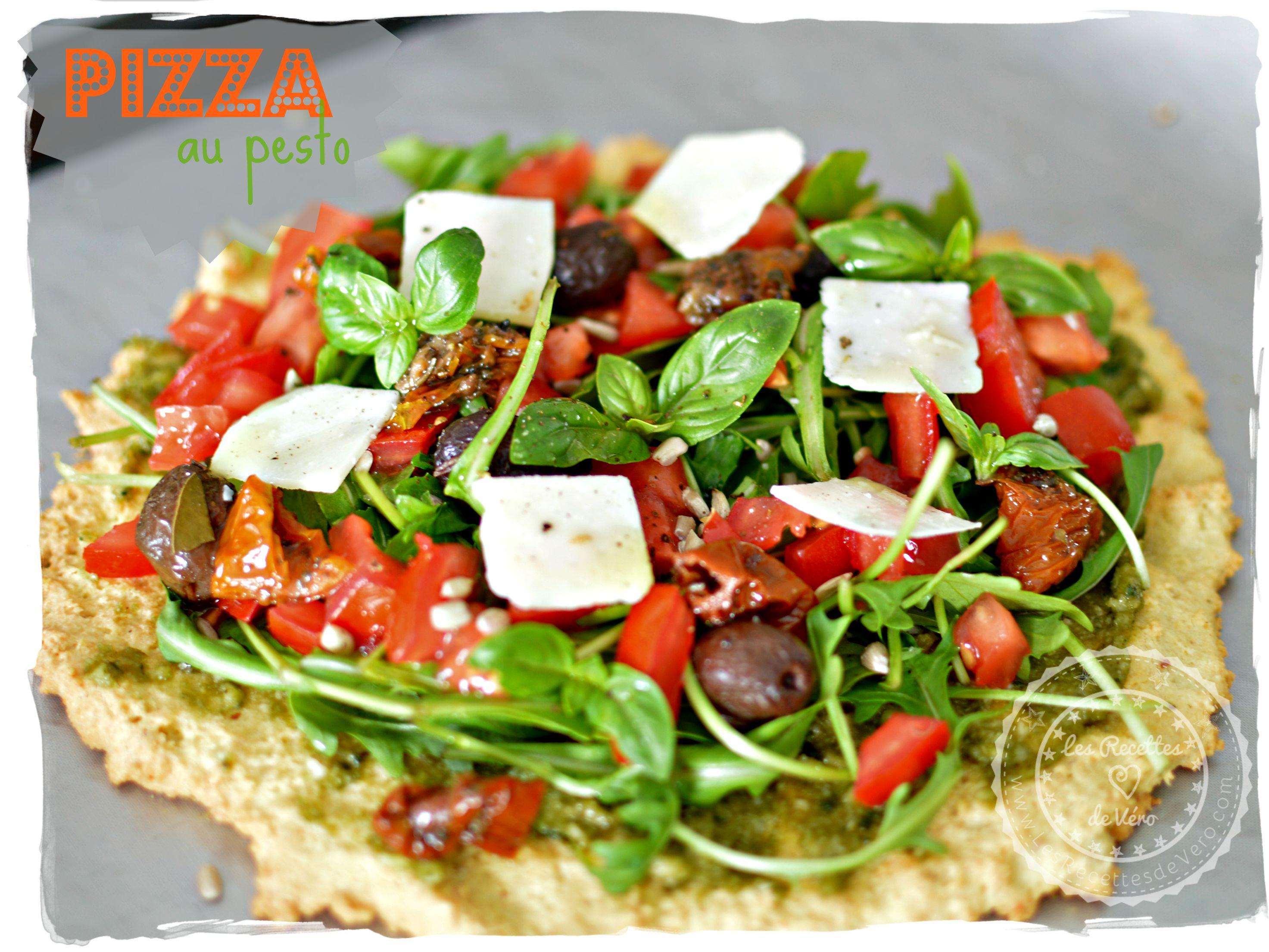 pizza au pesto