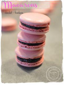 Macarons chocolat framboise - Bienvenue chez Vero
