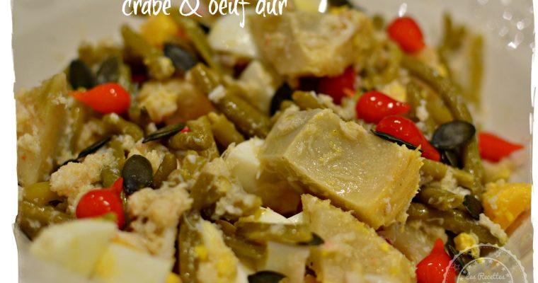 Salade mixte crabe et oeuf dur