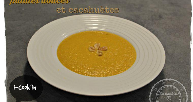 Soupe de carottes, patates douces et cacahuètes (i-cook'in)