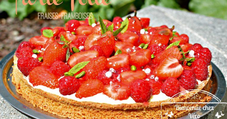 Tarte folle fraises-framboises