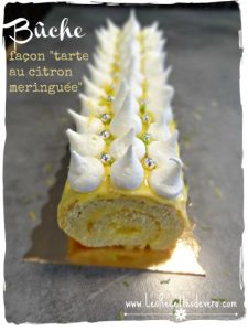 Bûche « façon tarte au citron meringuée »