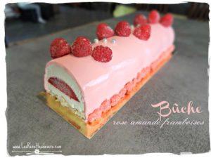 Bûche-rose-amande-framboise