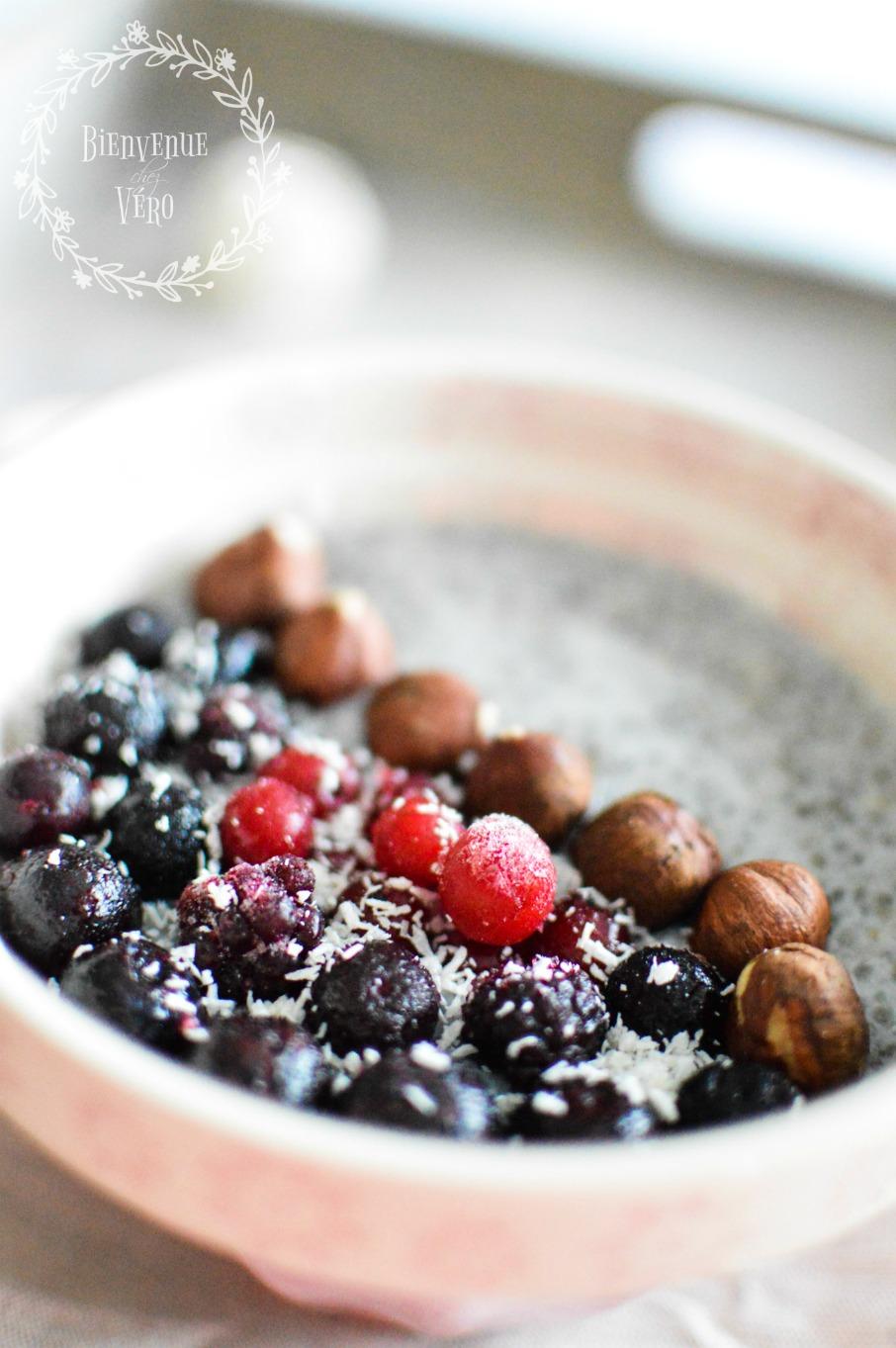 [BIENVENUE CHEZ VERO] - Recette de pudding de chia aux fruits rouges