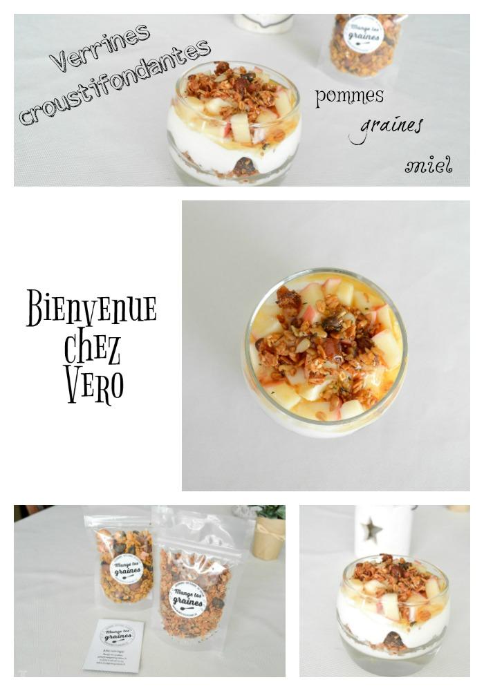 BIENVENUE CHEZ VERO - Verrines croustifondantes pommes graines et miel