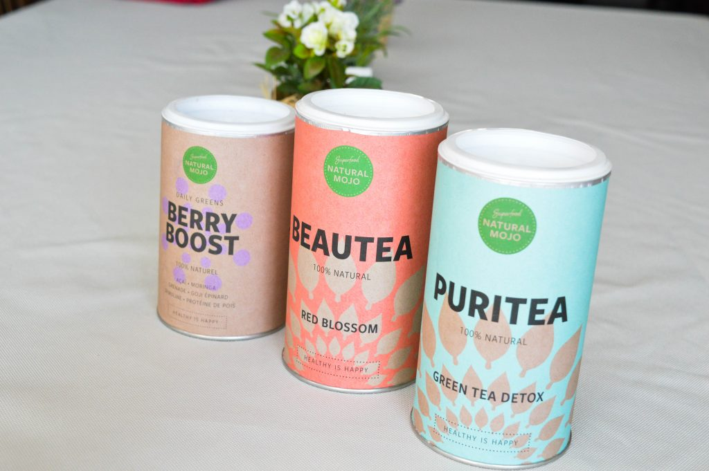 Bienvenue chez Vero - Natural Mojo - la tendance des super aliments - 3 produits