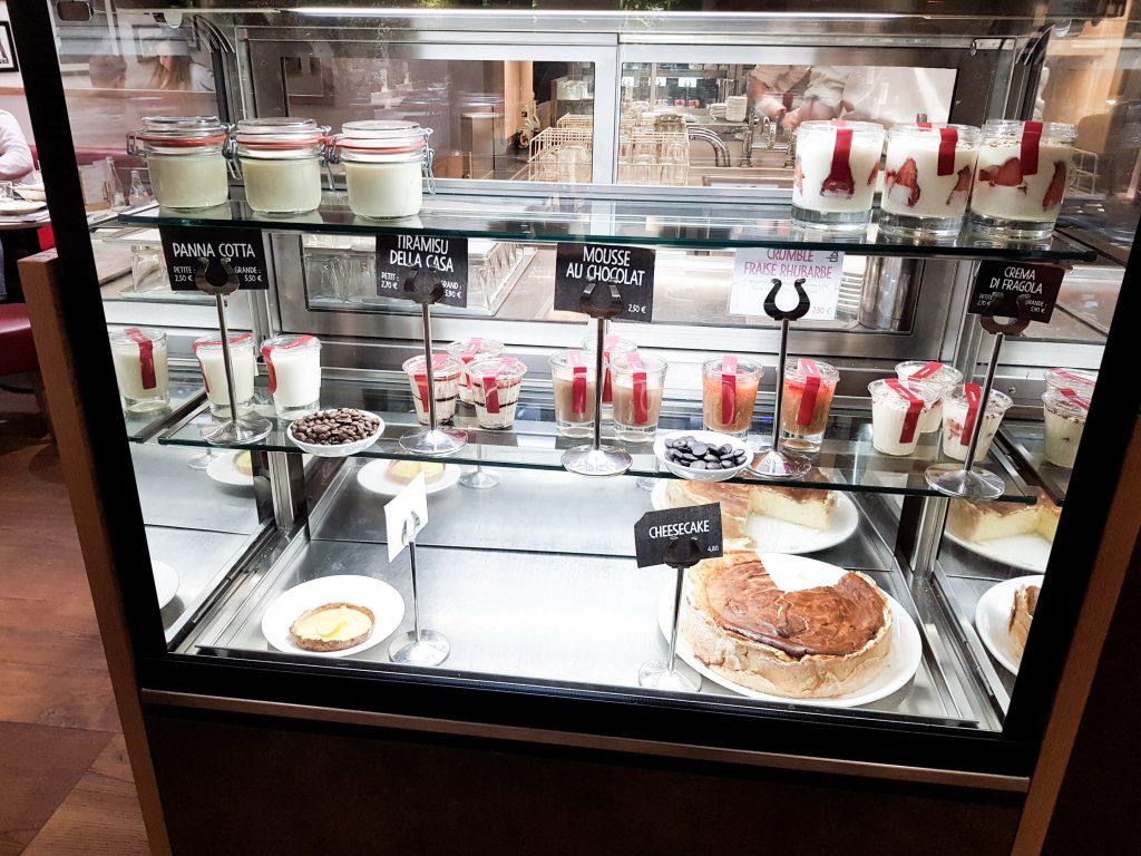 Bienvenue chez Vero - Chez vapiano Metz on mange aussi végétarien - les desserts en présentation