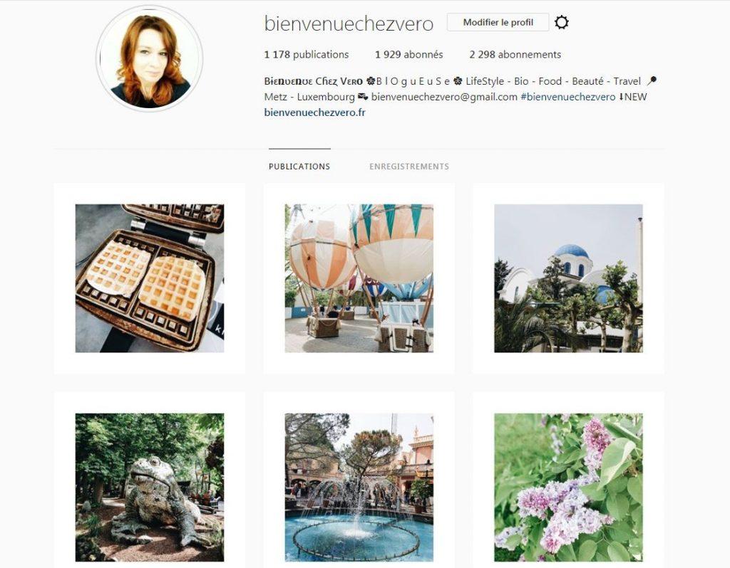 Bienvenue chez Vero - Compte Instagram pour concours Synergia