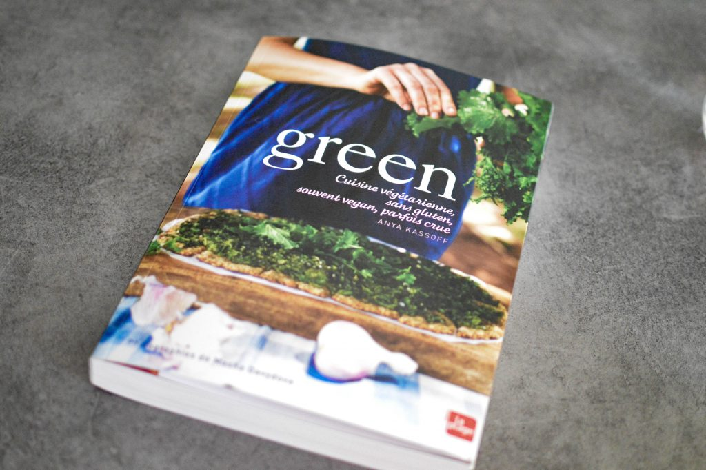 Livre green - cuisine végétarienne sans gluten, souvent vegans, parfois crue - Anya Kassoff