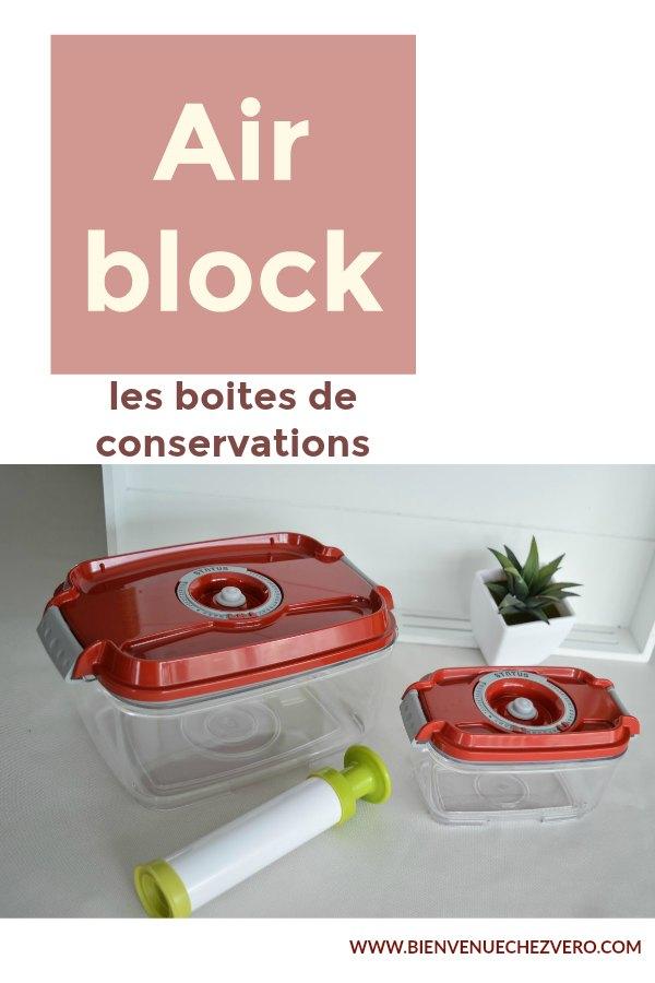 Bienvenue chez vero - Les boites de conservation airblock