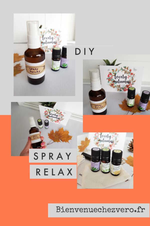 DIY - Comment faire son spray relax soi-même ? Ne vous laissez pas envahir par le stress. Restez zen et de bonne humeur malgré les aléas de la saison.