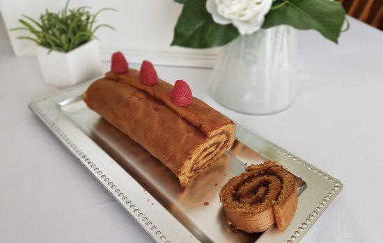 Roulé IG Bas à la framboise pour Octobre Rose  (au i-cook'in)