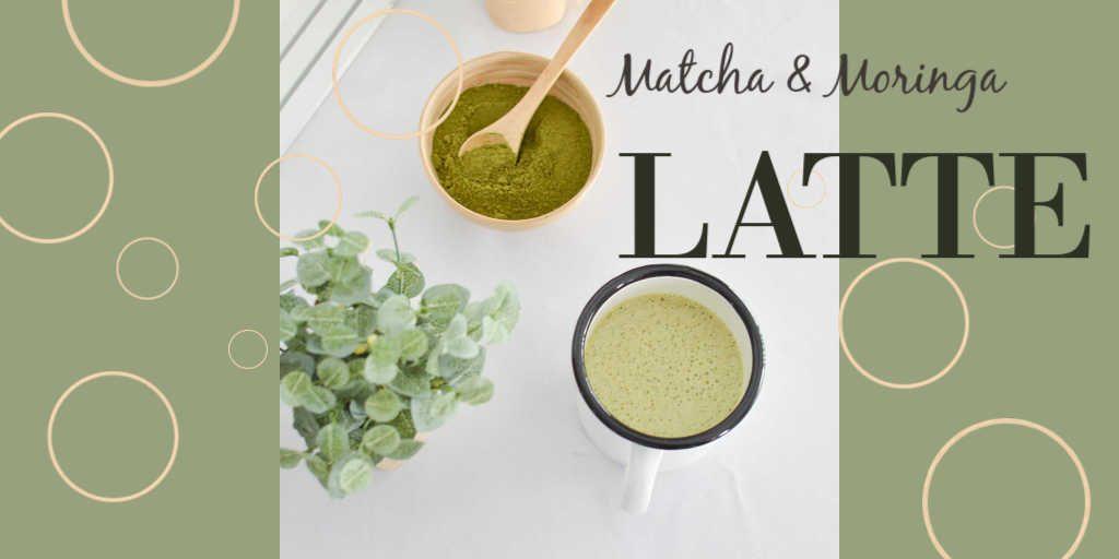 Matcha & moringa latte à IG Bas - Bienvenue chez vero