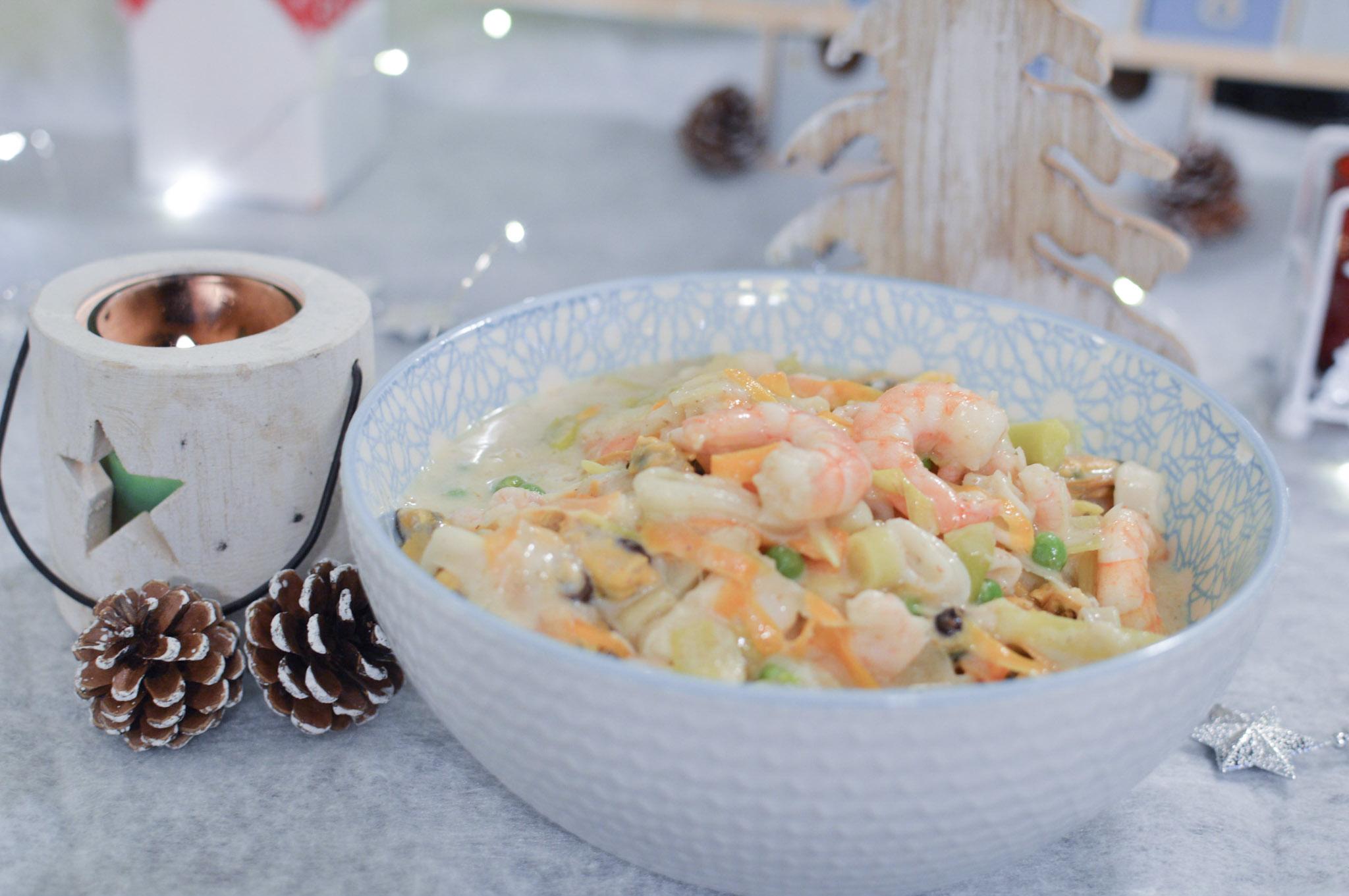 Marmite de fruits de mer aux petits légumes - Repas festif IG Bas - Bienvenue chez vero