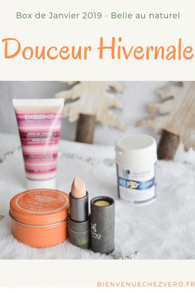Box de janvier - Belle au Naturel - Douceur Hivernale - Bienvenue chez vero PINT IT