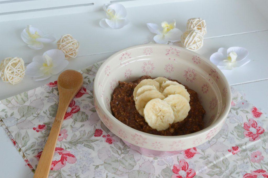 Porridge banane chocolat - Bienvenuechezvero