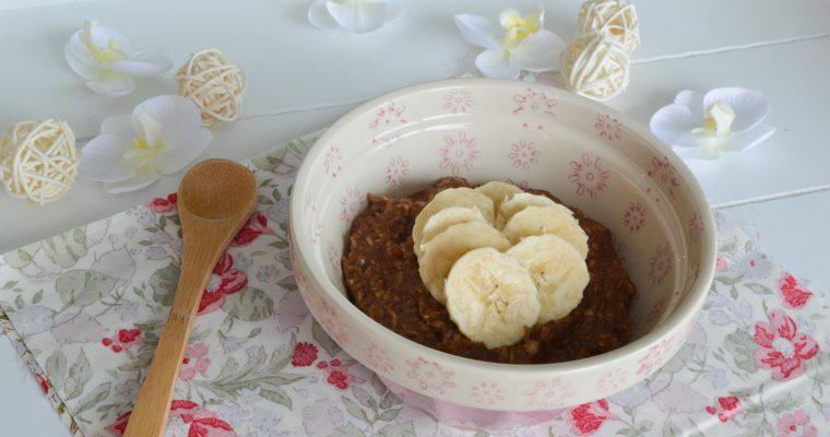 Petit déjeuner idéal – Porridge banane chocolat