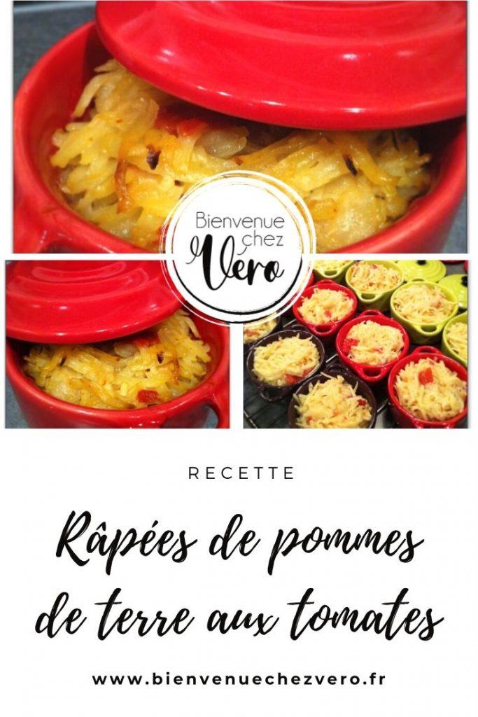 Râpées de pommes de terre aux tomates - Bienvenuechezvero.fr - PIN IT