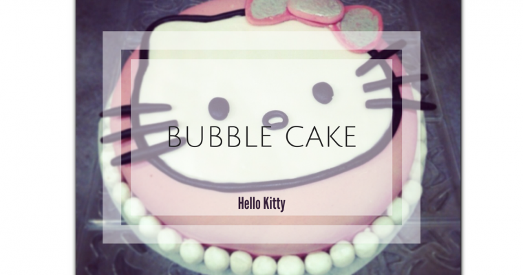 The Bubble cake Hello kitty