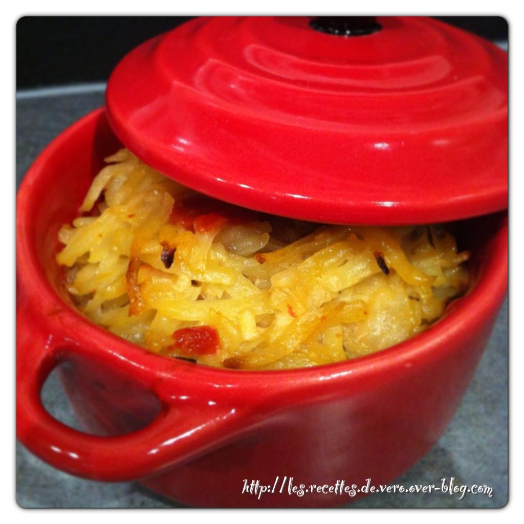 Râpées de pommes de terre aux tomates