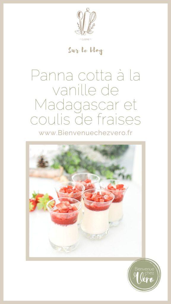 Pint it - Recette des verrines de panna cotta vanille et coulis de fraises
