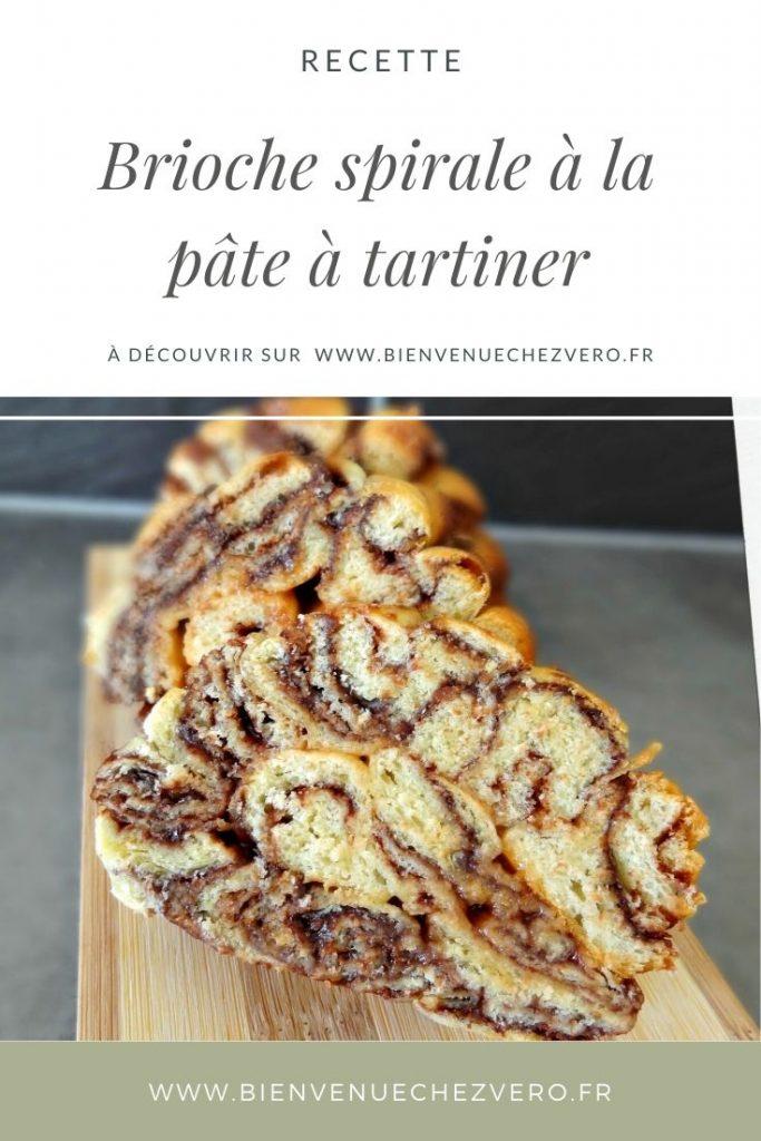 Brioche spirale à la pâte à tartiner