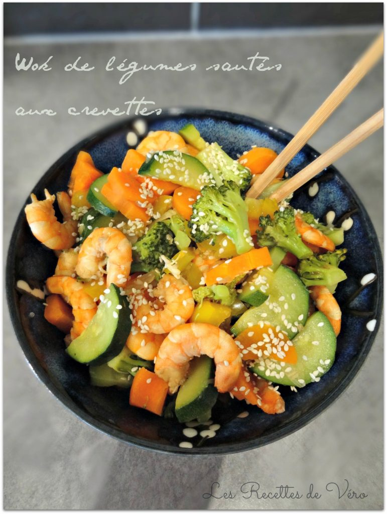 Comment réaliser un wok de légumes sautés aux crevettes